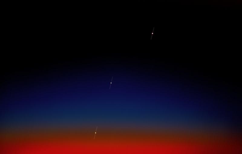Conjunción planetaria: Marte, Venus y Júpiter en un alineación visible al amanecer.